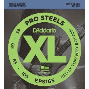 D´addario EPS165 ProSteels Bass cuerdas para bajo